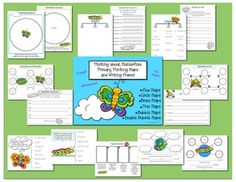 Your little ones' thinking and writing skills will soar with these adorable thinking maps and writing frames.