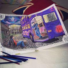 Resultado De Imagen Harry Potter Coloring Book Aquarell Magical Places
