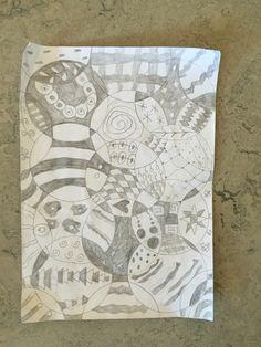 2. klasse arbejder med Doodle - former og mønstre