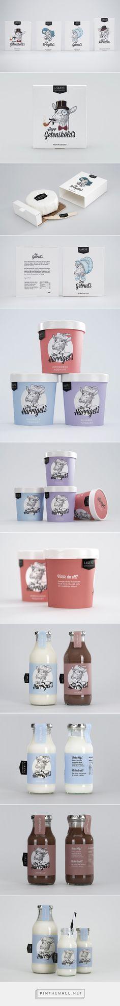 Lakene Gårdsmejeri #Dairy #packaging designed by Frida Ekelund, Jasper van Wolferen, Ronja Hallgren, Maarit Hautamäki - http://www.packagingoftheworld.com/2015/05/lakene-gardsmejeri-student-project.html
