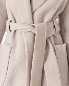 Cosy Belt Coat Beige Birch