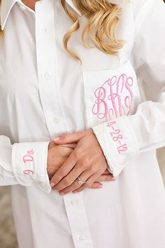Wedding Countdown Awesome bride getting ready boyfriend shirt! - You and your bridal party will love this fashionable button down boyfriend style shirt while getting ready for your big day! The Wedding Date, On Your Wedding Day, Wedding Tips, Perfect Wedding, Wedding Planning, Dream Wedding, Budget Wedding, Wedding Stuff, Wedding Reception