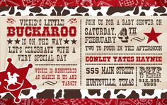 Western Baby Shower Invitation  Printable OR Finished by Divulge, $15.00.....Have to have these!!!!!