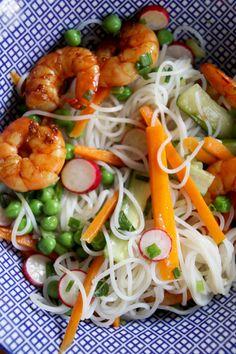 Salade de gambas façon viet'