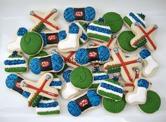 Knitting Themed Cookies