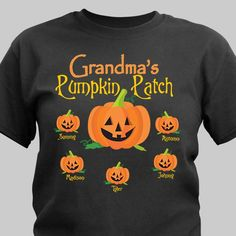 Our Pumpkin Patch Personalized Halloween Shirts are available on our premium black cotton T-Shirt , machine washable in adult sizes Includes FREE Personalization! Halloween Shirts For Boys, Halloween Vinyl, Halloween Outfits, Halloween Gifts, Halloween Ideas, Halloween Clothes, Halloween Images, Happy Halloween, Halloween Party