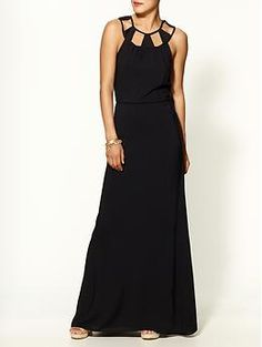 Cutout Maxi Dress  by Tinley Road similar -  http://www.bebe.com/Dresses/Midi-Maxi/Ruffle-Maxi-Dress/pc/197/c/0/sc/203/66741.pro