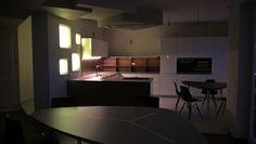 L'architettura della luce crea la giusta atmosfera #light #lightatmosphere #modernkitchen #wonderfulkitchen