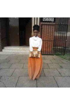 Orange maxi skirt on chictopia.  Love it :-)