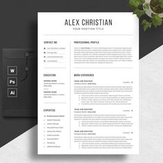 RESUME is the perfect way to make the best impression. Strong typographic structure and very easy to use and customize this cv. Clean and Simple CV/Resume & Cover Letter Professional Resume Template Word, College Resume Template, Modern Resume Template, Cv Template, Resume Templates, Templates Free, Job Resume, Resume Tips, Resume Help