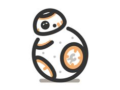 BB-8 icon by Matt Hamm http://iconutopia.com/inspiration/best-icons-of-the-week-6/