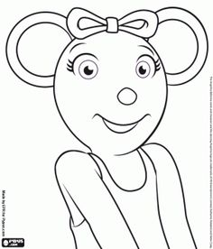 angelina ballerina loves the dance coloring page - Angelina Ballerina Coloring Pages