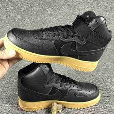 reputable site 9f4b4 978fa Nike Air Force 1 High Black Brown