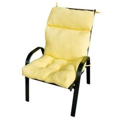 I'm learning all about Greendale Home Fashions Outdoor High Back Chair Cushion, Sunglow at @Influenster!