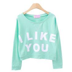 I Like You Crop Top / Totally Trendy