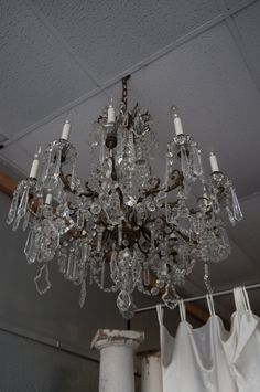 this antique chandelier was in a big hotel downtown kansas city. we have it for sale in our store for Antique Furniture For Sale, Antique Chandelier, Kansas City, Ceiling Lights, Antiques, Store, Big, Home Decor, Old Chandelier