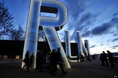 Monica Bonvicini - Run (installation in Olympic Park, London) 2012 art