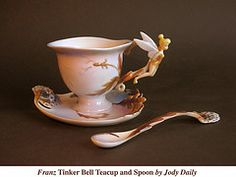 Franz Tinker Bell Tea Cup by Jody Daily. Matching teapot on my other board.
