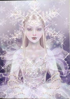 Maxine Gadd published fairy and fantasy artist. Exceptional digital illustrations and mystical beings Fantasy Magic, Fantasy Art, Fantasy Fairies, Fantasy Makeup, Fairy Dust, Fairy Tales, Fairy Land, Snow Fairy, Winter Fairy