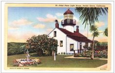 Lighthouse Point Pinos Pacific Grove by ThePostcardDepot on Etsy, $5.00