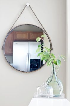 Rope Captain's Mirror by Sarah Dorsey using Simpson Strong-Tie. Isn't it just stunning?