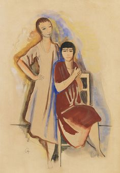 Two Girls. Karl Hofer.