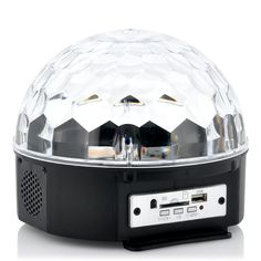 Get the party started with the ldquo Magistrobe rdquo LED Light ball Emitting red blue green and yellow light beams which are dispersed through the Geek Gadgets, High Tech Gadgets, Electronics Gadgets, Cool Gadgets, Sound Stage, Red Blue Green, Yellow, Light Beam, Ball Lights