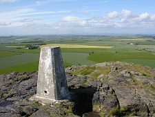 North Berwick Scotland: North Berwick Law- Looking West from the  Trig Point