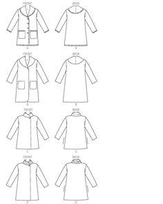 Line Art B6107 Misses' Coat Very Easy  Butterick