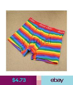 1 Pc Men Lgbt Rainbow Striped Shorts Briefs Gay Pride Symbol Underwear Boxers Boxers, Boxer Briefs, Briefs Underwear, Long Underwear, Lgbt, Gay Pride Symbols, Rainbow Outfit, Rainbow Clothes, Rainbow Fashion