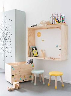 Ideas modern kids room decor playrooms for 2019 Kids Corner, Art Corner, Play Corner, Kids Bedroom, Bedroom Decor, Kids Rooms, Room Kids, Child Room, Wall Decor
