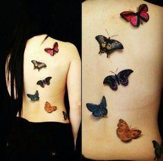 #Butterfly #BackPiece #realistic #realism #Realistictattoo #tattoos #tattoo #butterflies #InkedMag #InkedMagazine #3Dtattoo #3d