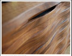 beautifully curving Walnut from Mark at Square-one bespoke furniture brighton, england