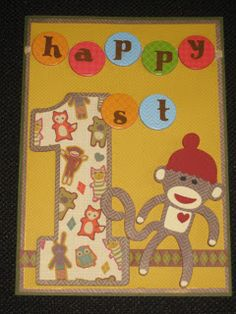 My Paper Productions: Sock Monkey 1st Birthday