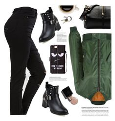 """Green Jacket - TwinkleDeals"" by yexyka ❤ liked on Polyvore featuring CB2"