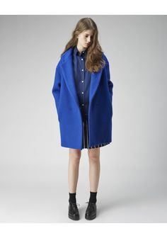 Jacquemus / Oversize Coat | La Garconne Loving an oversized jewel tone coat for layering this winter. $719.00