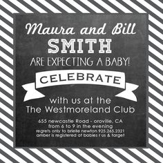 Couples Celebrate Baby Shower Invitation