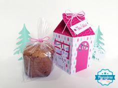 free mini panettone milk carton house box .studio and free digital christmas kit to decorate. DIY 3D