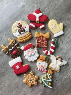 Iced Cookies, Cute Cookies, Cupcake Cookies, Cupcakes, Christmas Sweets, Christmas Candy, Christmas Baking, Christmas Sugar Cookies, Holiday Cookies