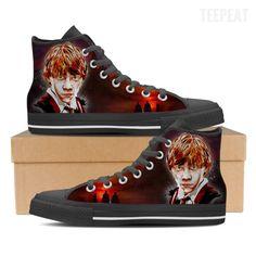 Ron W. Men High Top Canvas Shoes