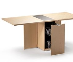 Space-saving compact gateleg table - Skovby A1101 - Wharfside