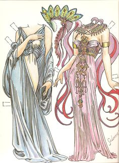 Paper Dolls In THe Style Of Mucha by Charles Ventura - Papírbabák Alfons Mucha stílusában - Nena bonecas de papel - Picasa Web Album Paper Art, Paper Crafts, Card Crafts, Dover Publications, Alphonse Mucha, Vintage Paper Dolls, Vintage Art, Doll Crafts, Printable Paper