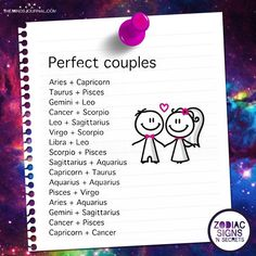 Perfect Couples leo ♌ +sag ♐ or ♐ + Aquarius ♒