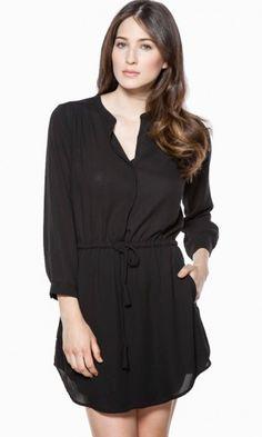WORK FLOW DRESS IN BLACK