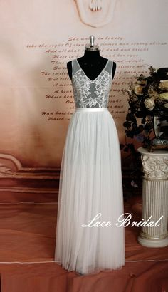 Sexy Style Wedding Gown, Transparent Bodice Bridal Gown With V-Back Cut, Ivory Color Wedding Dress, A-line Wedding Dress