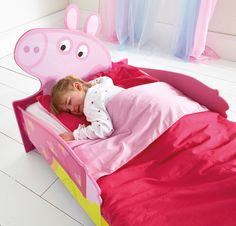Covered with the colourful characters from your toddler's favourite Peppa Pig stories, the Peppa Pig SnuggleTime Toddler Bed will see your little one eager to hop in, nod off and delve into adventures with Peppa, George, Daddy Pig and Mummy Pig. An ideal way to give your little one the confidence they need to make the leap to a grown-up bed of their own.