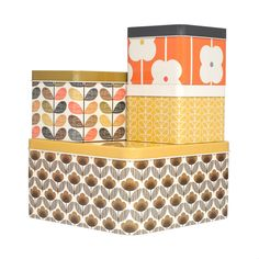 Set de 4 boîtes Orla Kiely by hopono on Shopigram