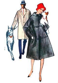 L'Echo de la Mode September 1961  Blizzand Collection Automne 1961  Illustration René Gruau