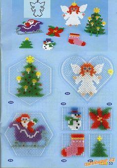 hama beads - xmas