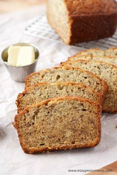 banana bread 3 bananas (brown, mashed) ⅓ cup melted butter ½- 1 cup sugar (depends on how sweet you want it) 1 egg, whisked with a fork 1 tsp vanilla 1 tsp baking soda pinch of salt 1½ cups flour